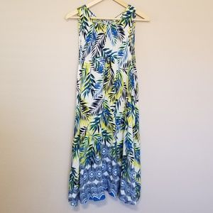 BeachLunchLounge Palm Print Tank Dress Large